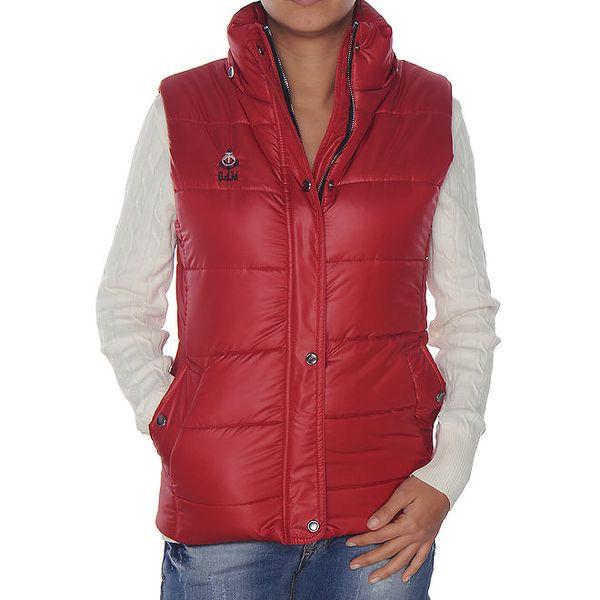 Dámská červená prošívaná vesta Giorgio di Mare