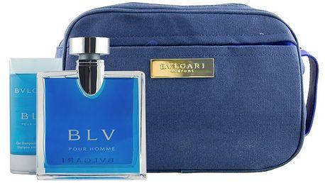 Bvlgari BLV pour Homme EDT 100 ml + 75 ml SG 2v1 + kosmetická taška M