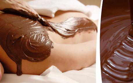 60minutová čokoládová terapie s kávovým peelingem a čokoládovým zábalem