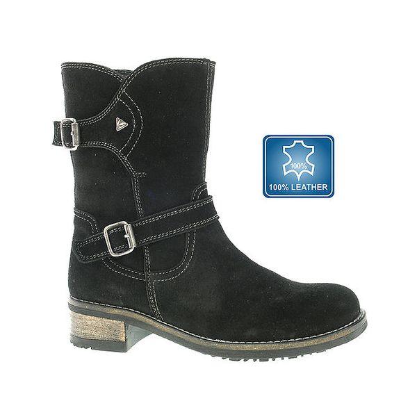 Dámské černé kožené boty Beppi