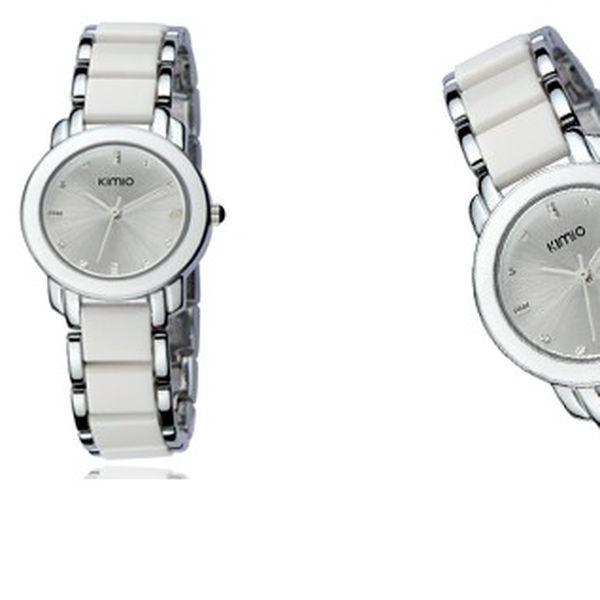 Luxusní hodinky KIMO CERA s kovovo-keramickým řemínkem pro unikátní vzhled a funkčnost!