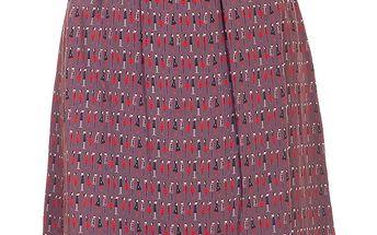 Dámská hnědo-béžová sukně s potiskem Rosalita McGee