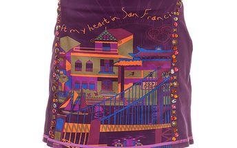 Dámská fialová sukně s korálky Rosalita McGee