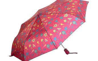 Dámský červený deštník s potiskem Rosalita McGee