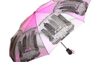 Dámský růžovo-šedý deštník Rosalita McGee