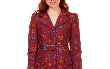 Dámský červený kabát s potiskem Rosalita McGee