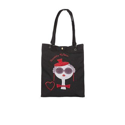 Dámská černá taška s výšivkou Rosalita McGee