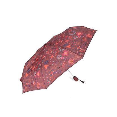Dámský hnědý deštník s potiskem Rosalita McGee