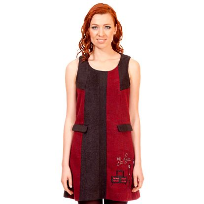 Dámské šedo-vínové šaty Rosalita McGee