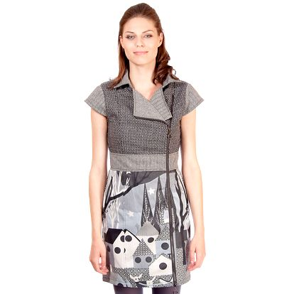 Dámské šedé šaty s potiskem Rosalita McGee