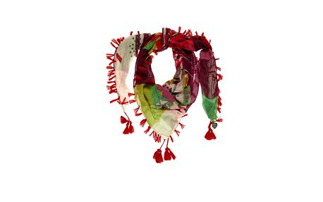 Dámský barevný šátek s červeným třísněmi Rosalita McGee
