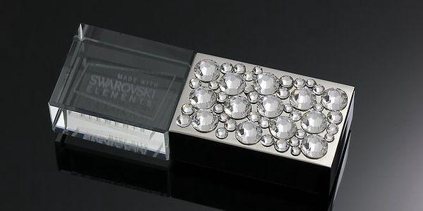 Dámské luxusní USB s průhlednými krystaly Swarovski