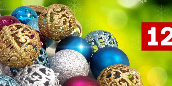 Hezké elegantní vánoční ozdoby: 12 koulí, krásné barvy, 3 varianty