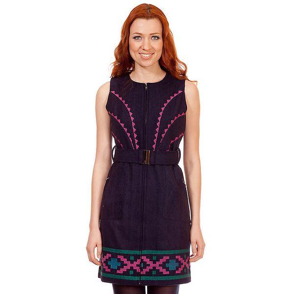 Dámské fialové šaty bez rukávů Rosalita McGee