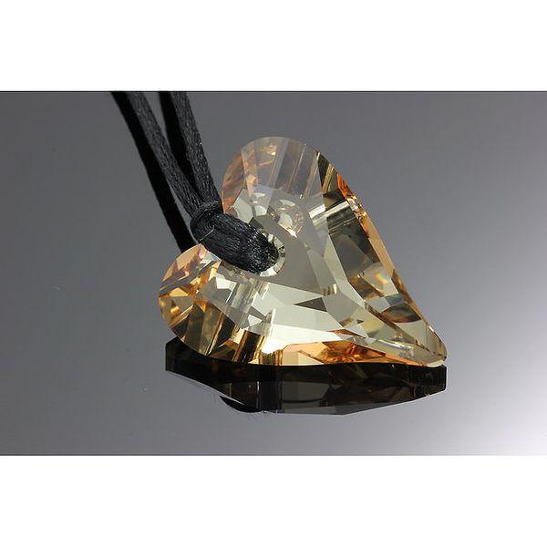 Dámský náhrdelník s hnědým srdíčkem Swarovski