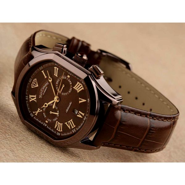 Pánské hodinky Yves Camani Bellissimo hnědé
