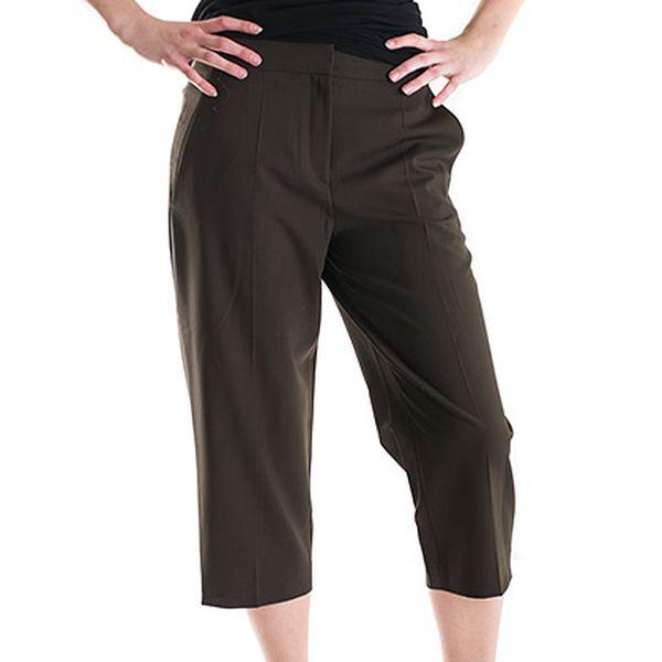 Tmavě hnědé společenské kalhoty