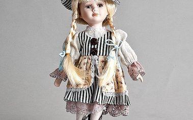 Dekorativní panenka Pavlínka s dlouhými vlasy a šaty
