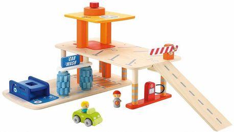 Sevi dřevěná garáž s myčkou, servisem a pumpou
