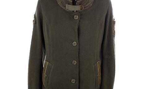 Dámský hnědý kabátek s ovčí kožešinkou Aeronautica Militare
