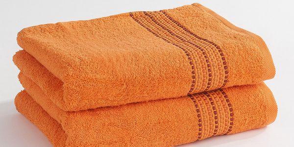 Jerry Fabrics ručník Verona oranžová, 50 x 100 cm, sada 2 ks