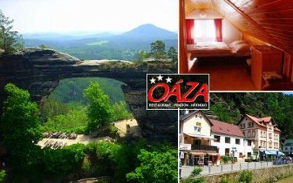 3denní POBYT pro 2 v penzionu OÁZA přímo v centru HŘENSKA v Národním parku ČESKÉ ŠVÝCARSKO.