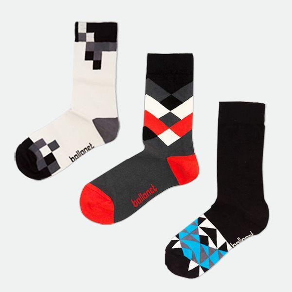 Triplepack ponožek Pack Black, velikost 36-40