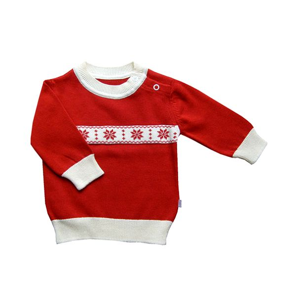 Červený vánoční svetr