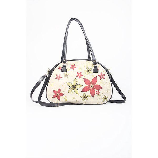 Dámská krémová kabelka s květinovým vzorem Elite Goby