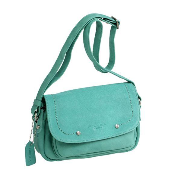 Zelená menší kožená kabelka