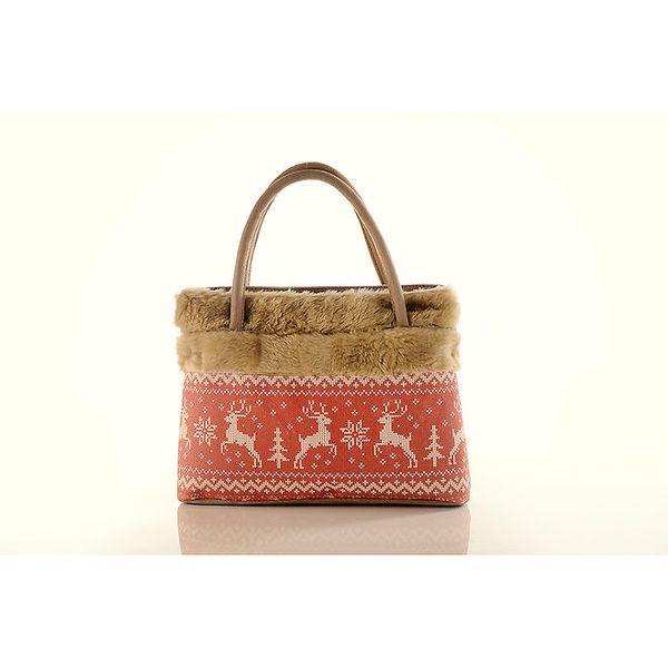 Dámská béžová kabelka Elite Goby s jeleny