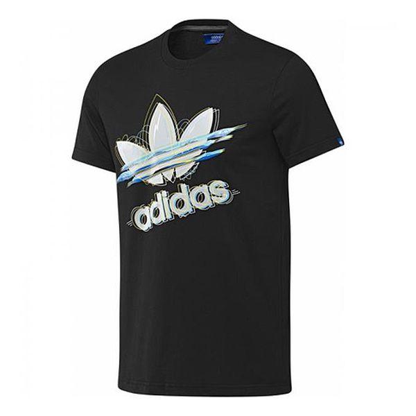Černé tričko s plastickým logem