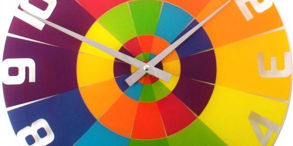 Veselé nástěnné hodiny Nextime Rainbow
