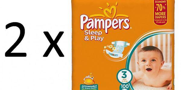 Kvalitní plenky Pampers Sleep&Play 3 Midi - 200ks pro děti 4-9 kg