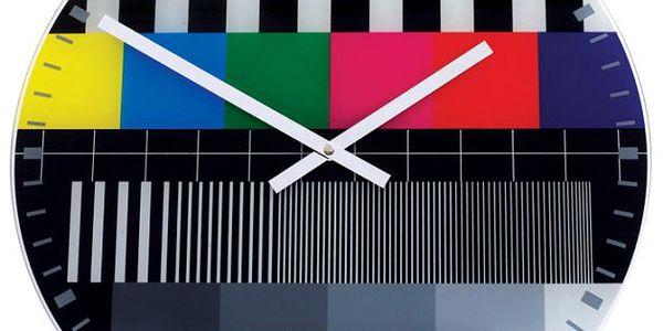 NEXTIME Testpage - 43 cm - Nepřehlédnutelné nástěnné hodiny ve stylu 80.let