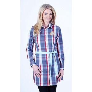 Dámská dlouhá kostkovaná košile Pontto