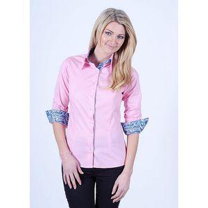 Dámská růžová košile s květinovou podšívkou Pontto
