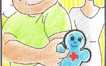 Gel pro první pomoc při dětských bolístkách - panáček modrý