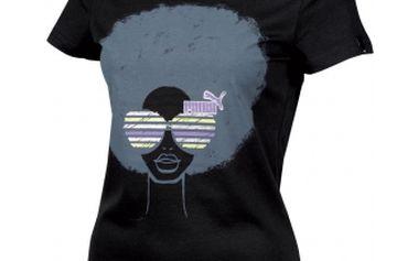 Dámské triko - puma afro style tee černá