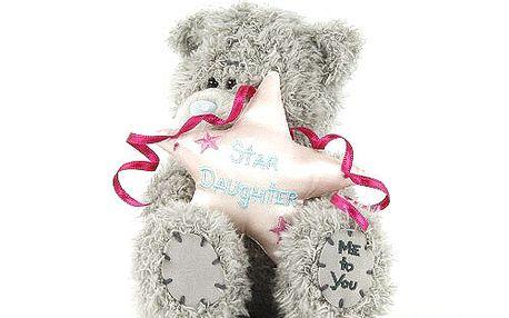 Star Daughter - nejoblíbenější plyšový medvídek Me to You s růžovou hvězdou v náručí.