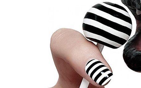 Coco Chanel styl - úprava nehtů v černo-bílém provedení