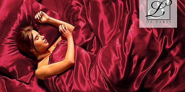 Luxusní saténové povlečení na manželskou postel