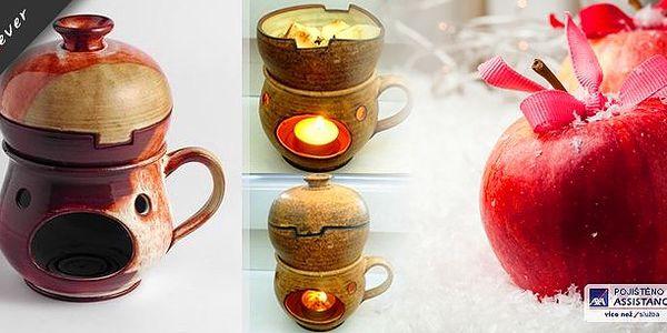 Keramický rozpékač na jablka. Rozpečte si jablíčko s oříšky, rozinkami a medem! Navoďte si doma příjemnou vůni Vánoc a adventu.