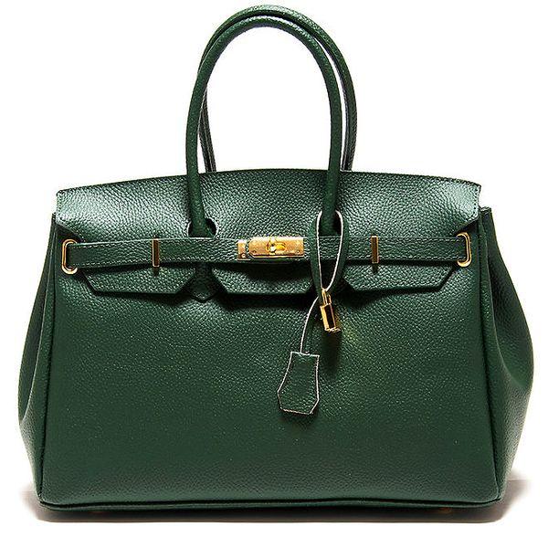 Dámská zelená kabelka se zámečkem Roberta Minelli