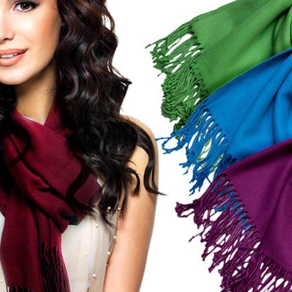 Hřejivé vlněné pašmíny – 99 barev