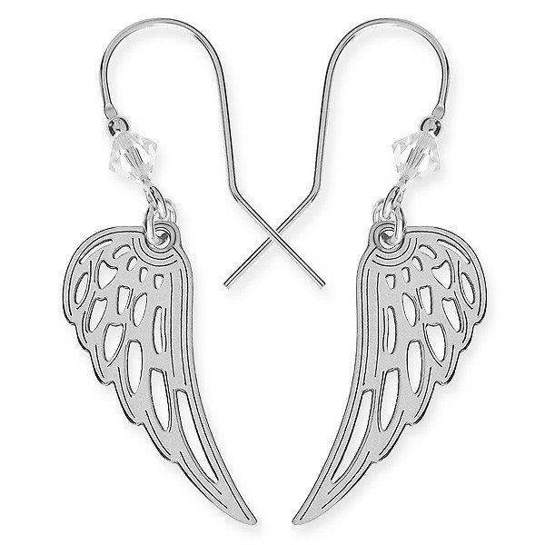 Náušnice ve tvaru andělských křídel z .925 stříbra