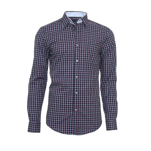 Pánská jemně károvaná košile Pontto