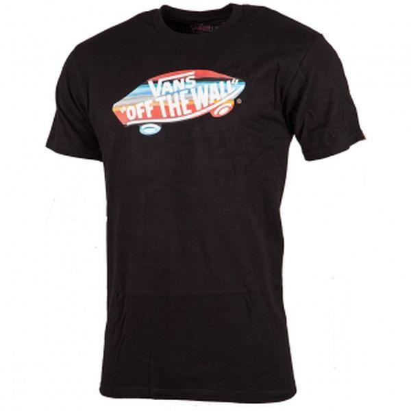 Pánské lifestyle triko - Vans SUNSET STRIPE černá