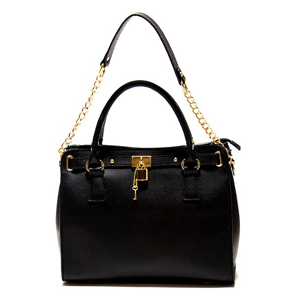 Dámská černá kabelka s řetízkem Roberta Minelli