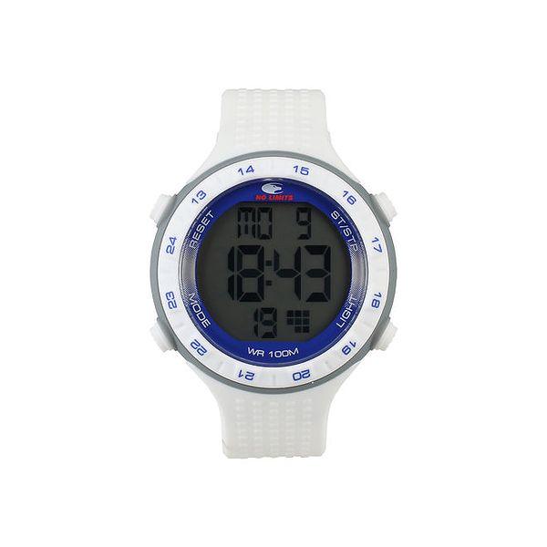 Bílo-modré digitální hodinky No Limits